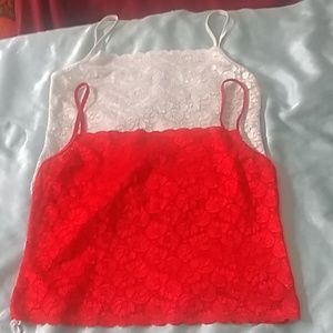 Super stretchy set of 2 lace tank